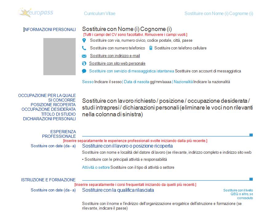 curriculum vitae europass completat